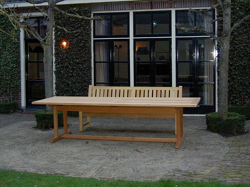 lange tuintafel van hout 300x100cm gemaakt van fsc guariuba hardhout. Black Bedroom Furniture Sets. Home Design Ideas