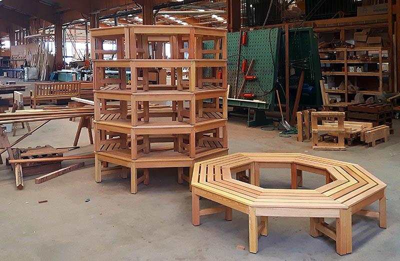 boombanken van fsc hardhout voor projecten