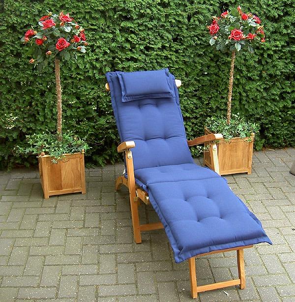 deckchairkussen blauw