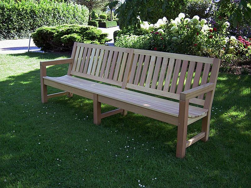 houten tuinbank met middenpoot van FSC hard hout