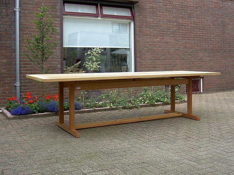 vondel tuinmeubelen lange tuintafel van hout 300x100cm gemaakt van fsc guariuba hardhout. Black Bedroom Furniture Sets. Home Design Ideas