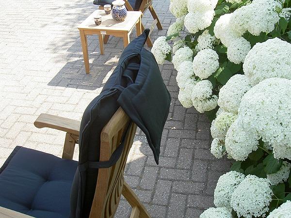 kussens voor tuinstoel met hoofdkussen