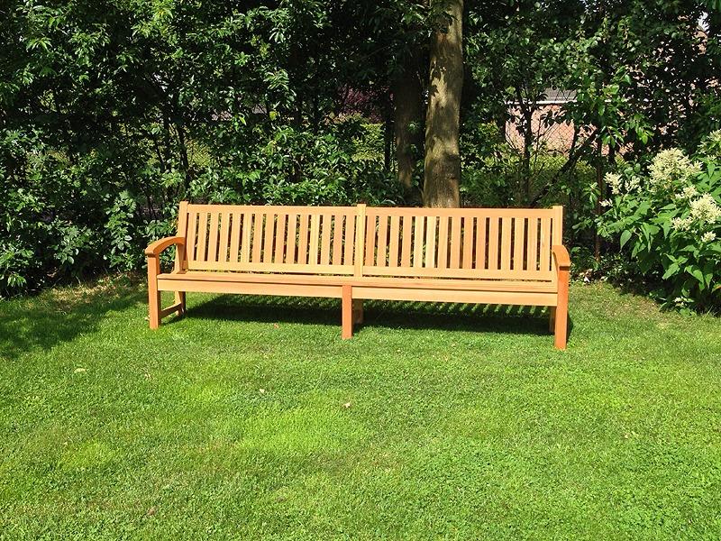 tuinbank van 300 cm lang voor project en tuin van fsc hard hout