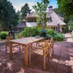 moderne tuinstoelen van teakhout, lichtgewicht.