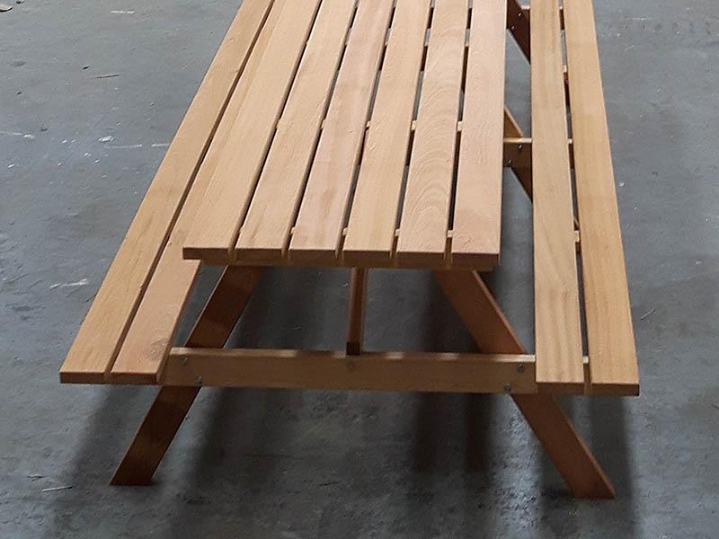 mooie picknicktafels van fsc hard hout