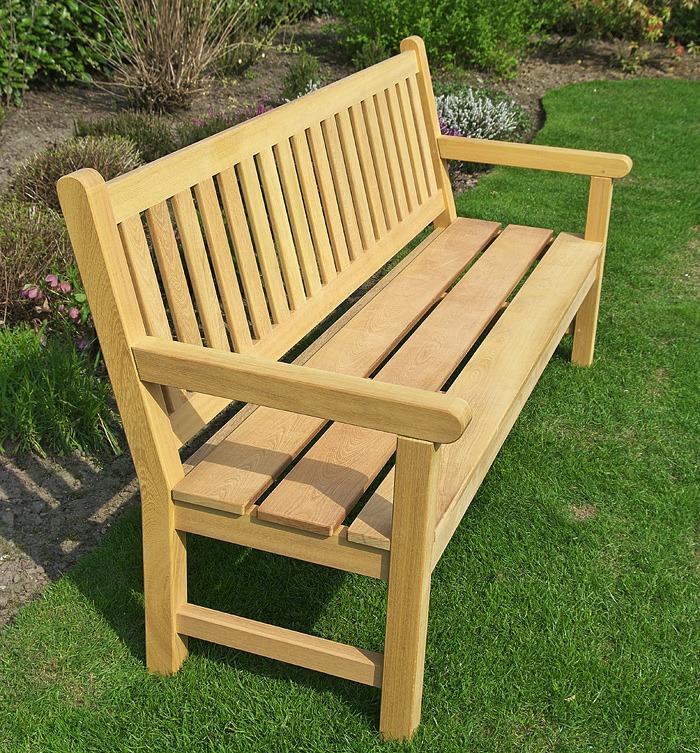 mooie houten tuinbank FSC gecertificeerd, met brede zittings planklen