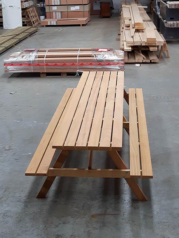 lange picknicktafel fsc hard hout 320 cm