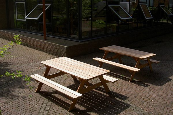 picknicktafels van hardhout voor projecten