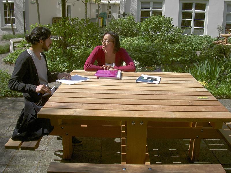 picknicktafels vierkant van FSC hard hout, Vondel Tuinmeubelen