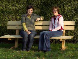 Rhodo parkbank van Gelfort tuinmeubelen