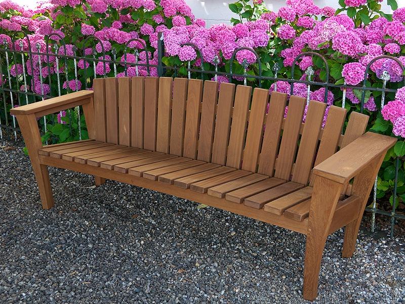 Salzburg tuinbank van FSC hard hout van vondel tuinmeubelen