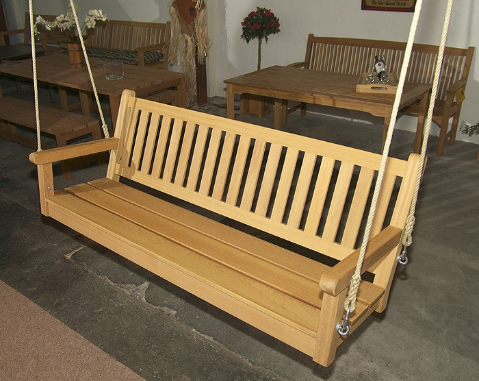 swingbank fsc hout zonder frame met touw