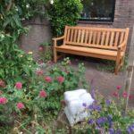 foto van een tuinbank gestuurd door een klant naar Gelfort