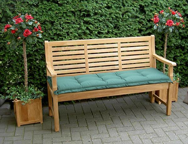 kussen voor tuinbank groen