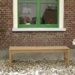 tuinbank van teak hout zonder rugleuning