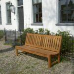 tuinbanken van hout zonder armleuningen / armleggers