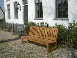 tuinbanken van hout zonder armleuningen