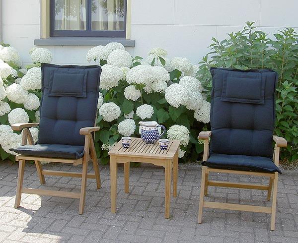 kussens voor tuinstoelen met hoge rug kwaliteit met hoofdkussen