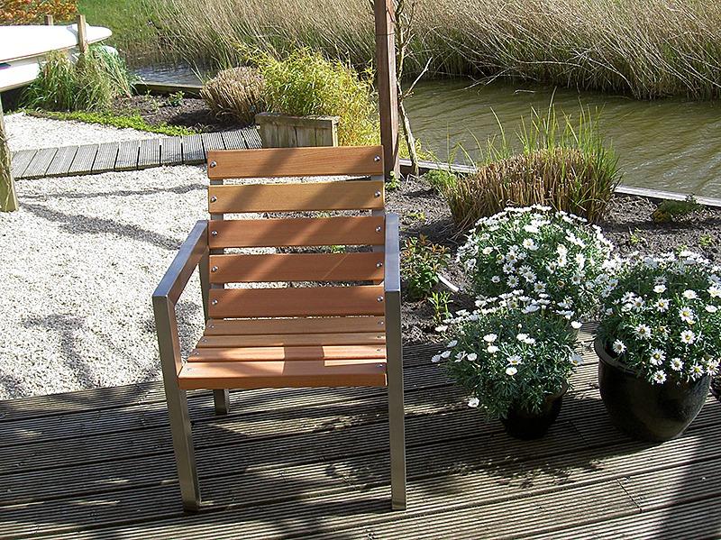 design tuinstoelen met roestvrij staal frame