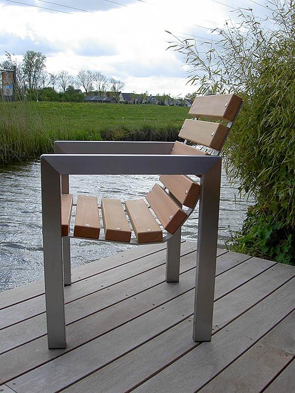Wonderlijk Tuinbanken roest vrij staal (RVS) frame, met hard hout UB-28