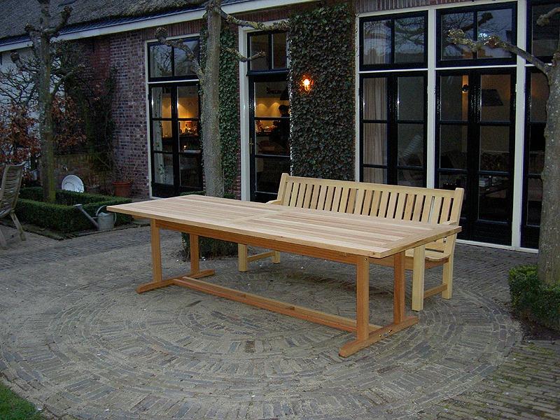 Lange tuintafel van hout cm gemaakt van fsc guariuba hardhout