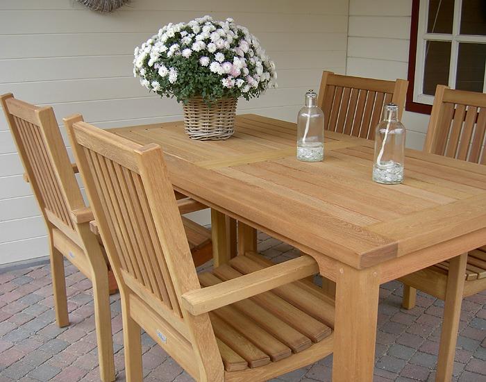 mooie houten tuintafel fsc hout van 200 x 100cm