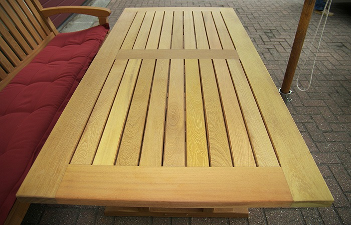 houten tuintafels van FSC gecertificeerd hard hout