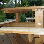 vierkante picknicktafels van hardhout, en stevige constructie
