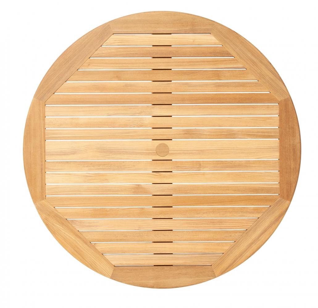 Vondel tuinmeubelen ronde tuintafel van teakhout 100cm 130cm en 150cm doorsnede - Solide teakhout ...