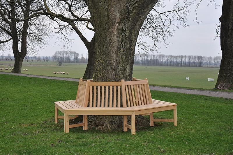 zeshoekige boombank van fsc gecertificeerd hout